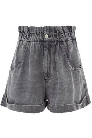 Isabel Marant Itea Paperbag-waist Lyocell Shorts - Womens - Grey