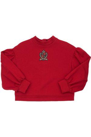 Dolce & Gabbana Logo Patch Cotton Sweatshirt