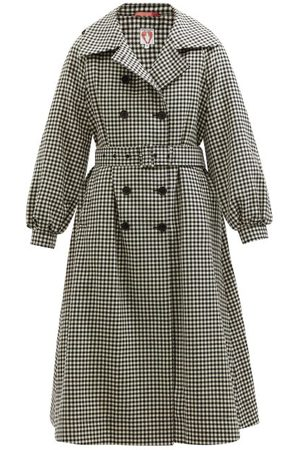 Shrimps Birch Checked Wool-tweed Trench Coat - Womens