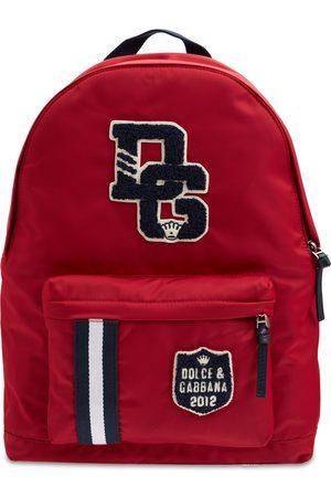 Dolce & Gabbana Logo Patch Nylon Backpack