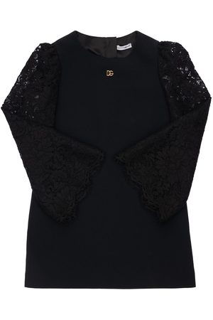 Dolce & Gabbana Viscose Blend Dress W/ Lace Sleeves
