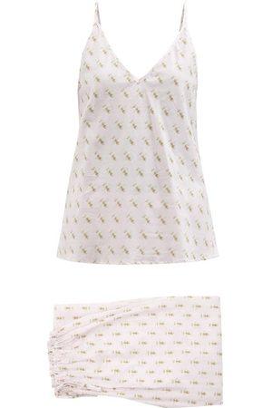 POUR LES FEMMES Queen Bee-print Cotton-lawn Pyjamas - Womens - Multi