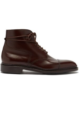 JOHN LOBB Skye Lace-up Leather Ankle Boots - Mens - Dark