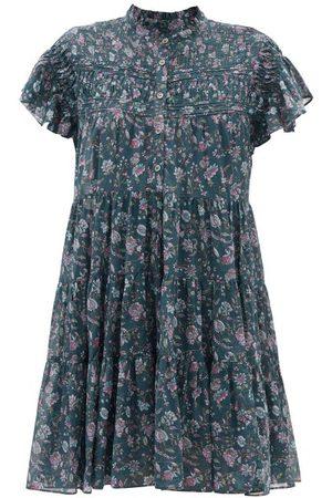 Isabel Marant Lanikaye Floral-print Cotton-voile Mini Dress - Womens - Multi