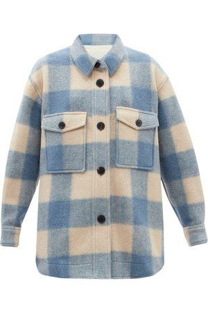 Isabel Marant Harveli Check Fleece Jacket - Womens - Light
