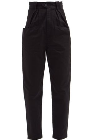Isabel Marant Pulcina Cotton-canvas Tapered-leg Trousers - Womens