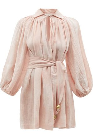Lisa Marie Fernandez Women Party Dresses - Poet Belted Cotton-blend Mini Dress - Womens