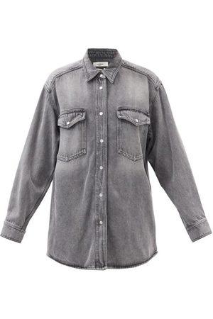 Isabel Marant Women Denim - Tania Oversized Denim Shirt - Womens - Grey