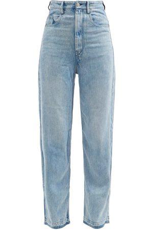 Isabel Marant Tilorsy High-rise Lyocell-denim Wide-leg Jeans - Womens - Light Denim