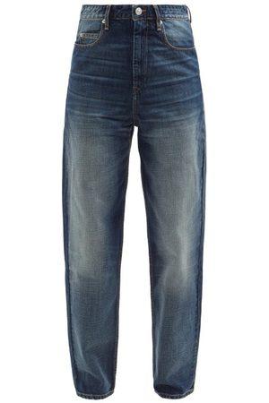 Isabel Marant Women High Waisted - Corsysr High-rise Tapered-leg Jeans - Womens - Mid Denim