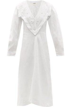Isabel Marant Women Midi Dresses - Erna Broderie-anglaise Linen Midi Dress - Womens