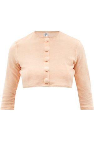 Lisa Marie Fernandez Women Cardigans - Cropped Cotton-blend Terry Cardigan - Womens