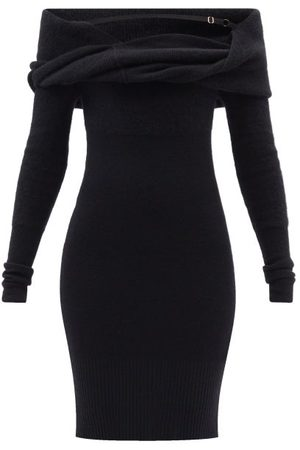Jacquemus Women Strapless Dresses - Ascua Off-the-shoulder Ribbed-knit Dress - Womens