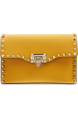 VALENTINO GARAVANI Small Rockstud Grained Leather Bag