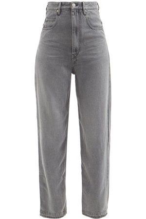 Isabel Marant Tilorsy High-rise Wide-leg Jeans - Womens - Dark Grey