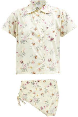 POUR LES FEMMES Apoline Blossom-print Cotton-lawn Pyjamas - Womens - Multi