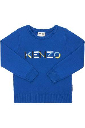 Kenzo Logo Cotton & Cashmere Knit Sweater