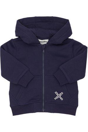 Kenzo Logo Cotton Blend Sweatshirt Hoodie