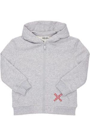 Kenzo Logo Print Cotton Sweatshirt Hoodie