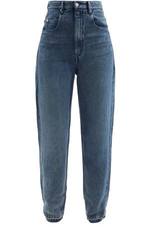 Isabel Marant Ticosy Tapered Wide-leg Jeans - Womens - Mid Denim