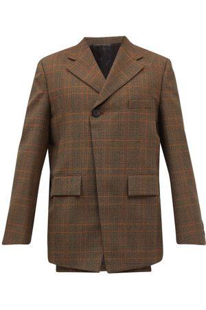 WOOYOUNGMI Men Blazers - Oversized Double-breasted Wool-blend Blazer - Mens - Multi