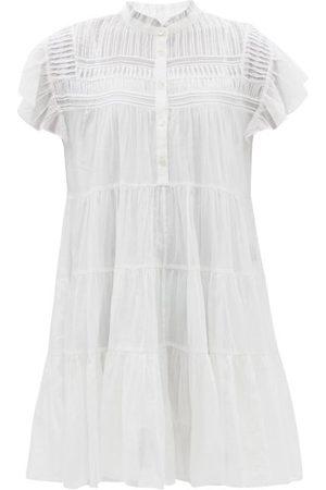 Isabel Marant Women Party Dresses - Lanikaye Pintucked Cotton-voile Mini Dress - Womens