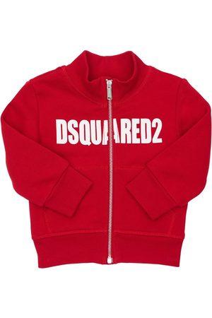 Dsquared2 Logo Print Zip-up Cotton Sweatshirt