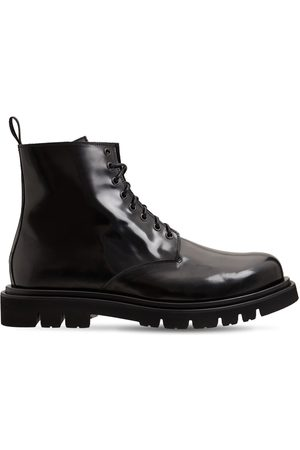 SEBOY'S Brushed Leather Lace-up Boots