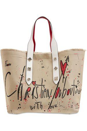 Christian Louboutin Women Tote Bags - Frangibus Toile Printed Tote Bag