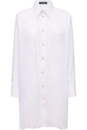 Dolce & Gabbana Women Casual Dresses - Poplin Shirt Dress W/back Lace Panel