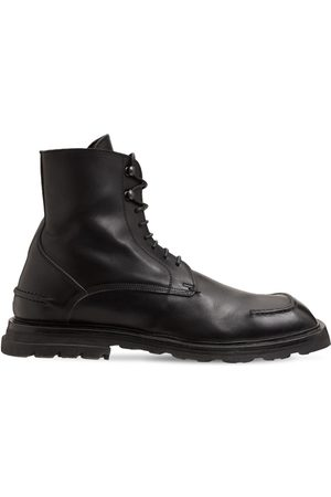 Moma Men Lace-up Boots - Achille Leather Lace-up Boots