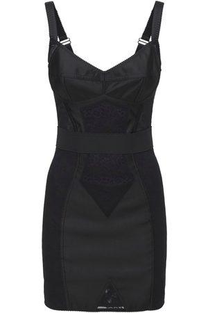 Dolce & Gabbana Stretch Satin Mini Corset Dress