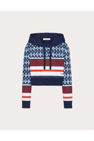 VALENTINO Women Sweatshirts - Printed Jersey Sweatshirt Women Light / 100% Cotton L