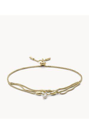 Womens Women Bracelets - Fossil Women's Drew Tiny Pearls Fresh Water Pearl Multi Strand Bracelet