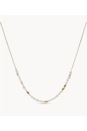 Womens Women Necklaces - Fossil Women's Drew Tiny Pearls Fresh Water Pearl Beaded Necklace