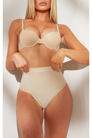 PRETTYLITTLETHING Women Bras - Nude Shapewear Power Mesh Control Brief
