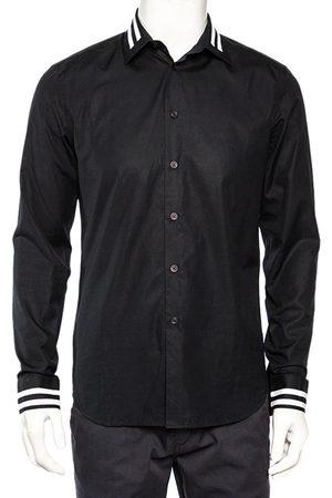 Givenchy Men Shirts - Vintage Cotton Contrast Stripe Detail Button Front Shirt M