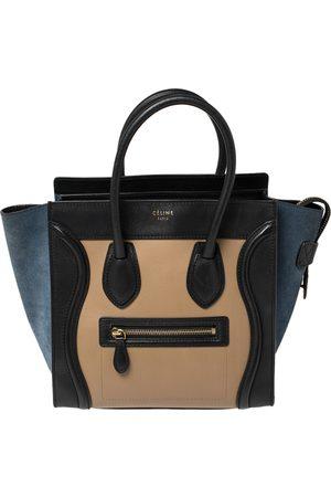 Céline Tri Color Leather Micro Luggage Tote