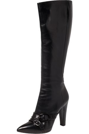 Sergio Rossi Leather Knee Boots Size 40