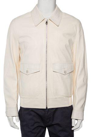 Dolce & Gabbana Men Leather Jackets - Alligator Leather Zip Front Jacket XL
