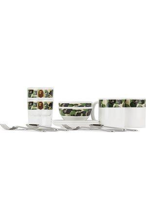 BAPE Multicolor Camo ABC Tableware Set