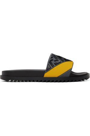 Fendi Grey & Yellow 'Forever ' Fussbett Slides