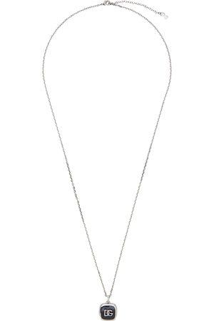Dolce & Gabbana Men Necklaces - Silver Logo Pendant Necklace