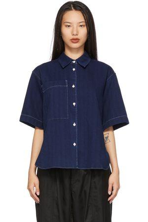 YMC Navy Eva Short Sleeve Shirt