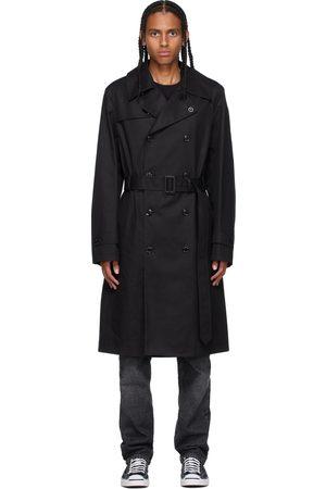 Moncler Genius 7 Moncler FRGMT Hiroshi Fujiwara Black Segin Pea Coat