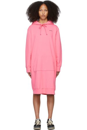 MM6 MAISON MARGIELA SSENSE Exclusive Pink Hoodie Dress