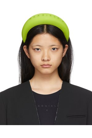 MM6 Maison Margiela Women Headbands - Green Padded Logo Headband