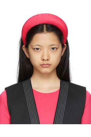 MM6 Maison Margiela Pink Padded Logo Headband