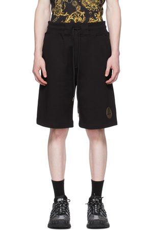 VERSACE Black V Emblem Shorts