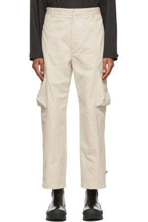 Deveaux New York Beige Twill Keagan Cargo Pants